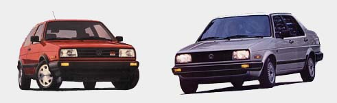 Image of 1988 GTI 16v and 1985 Jetta GL